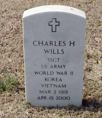 WILLS  (VETERAN 3 WARS), CHARLES H - Pulaski County, Arkansas | CHARLES H WILLS  (VETERAN 3 WARS) - Arkansas Gravestone Photos