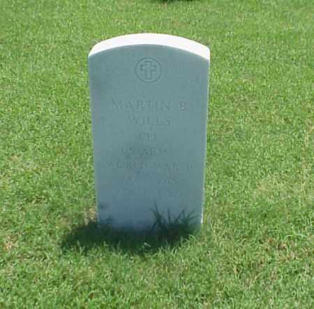 WILLS (VETERAN WWII), MARTIN B - Pulaski County, Arkansas   MARTIN B WILLS (VETERAN WWII) - Arkansas Gravestone Photos