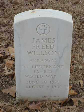 WILLSON (VETERAN WWI), JAMES FREED - Pulaski County, Arkansas   JAMES FREED WILLSON (VETERAN WWI) - Arkansas Gravestone Photos