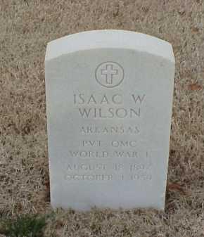 WILSON  (VETERAN WWI), ISAAC W - Pulaski County, Arkansas   ISAAC W WILSON  (VETERAN WWI) - Arkansas Gravestone Photos