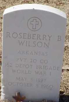WILSON  (VETERAN WWI), ROSEBERRY B - Pulaski County, Arkansas | ROSEBERRY B WILSON  (VETERAN WWI) - Arkansas Gravestone Photos
