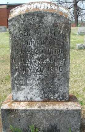 WILSON, ALBERT S. A. - Pulaski County, Arkansas | ALBERT S. A. WILSON - Arkansas Gravestone Photos