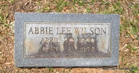WILSON, ABBIE LEE - Pulaski County, Arkansas | ABBIE LEE WILSON - Arkansas Gravestone Photos