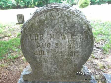 WILSON, ALOR M - Pulaski County, Arkansas   ALOR M WILSON - Arkansas Gravestone Photos