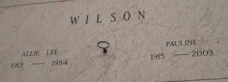 WILSON, PAULINE - Pulaski County, Arkansas | PAULINE WILSON - Arkansas Gravestone Photos