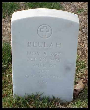 WILSON, BEULAH - Pulaski County, Arkansas   BEULAH WILSON - Arkansas Gravestone Photos