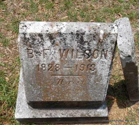 WILSON, B F - Pulaski County, Arkansas | B F WILSON - Arkansas Gravestone Photos