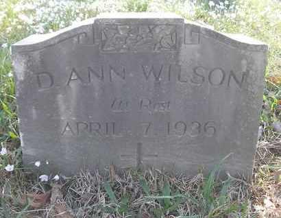 WILSON, D. ANN - Pulaski County, Arkansas | D. ANN WILSON - Arkansas Gravestone Photos