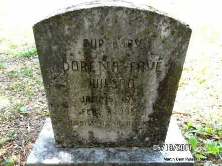 WILSON, DORETTA FAYE - Pulaski County, Arkansas   DORETTA FAYE WILSON - Arkansas Gravestone Photos