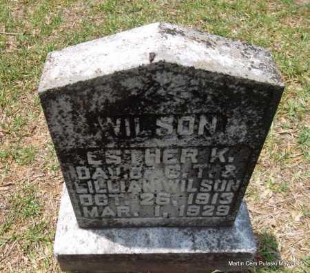 WILSON, ESTHER K - Pulaski County, Arkansas | ESTHER K WILSON - Arkansas Gravestone Photos