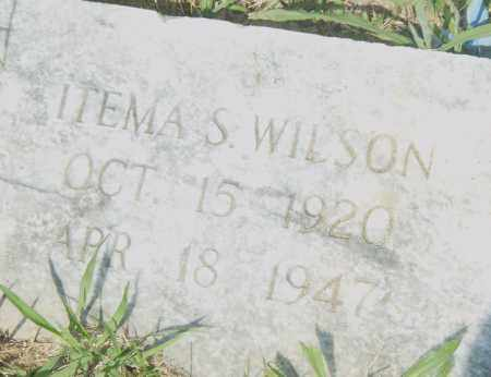 WILSON, ITEMA  S. - Pulaski County, Arkansas   ITEMA  S. WILSON - Arkansas Gravestone Photos
