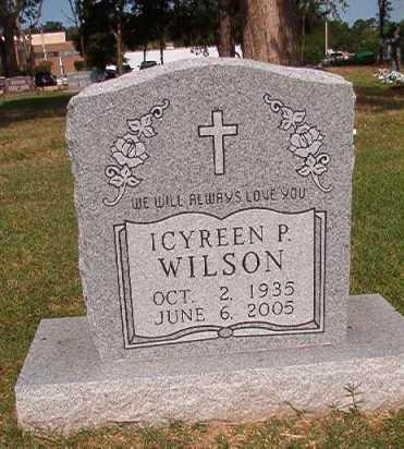 WILSON, ICYREEN P - Pulaski County, Arkansas | ICYREEN P WILSON - Arkansas Gravestone Photos