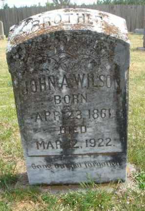 WILSON, JOHN A. - Pulaski County, Arkansas | JOHN A. WILSON - Arkansas Gravestone Photos