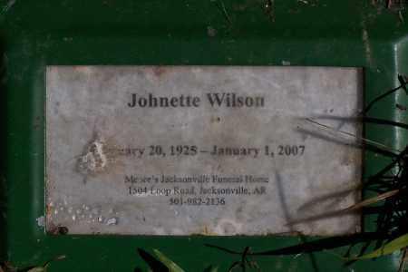 WILSON, JOHNETTE - Pulaski County, Arkansas | JOHNETTE WILSON - Arkansas Gravestone Photos