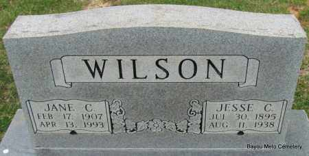 WILSON, JESSE C (DOUBLE STONE) - Pulaski County, Arkansas | JESSE C (DOUBLE STONE) WILSON - Arkansas Gravestone Photos