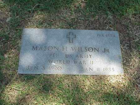 WILSON, JR (VETERAN WWII), MASON H - Pulaski County, Arkansas   MASON H WILSON, JR (VETERAN WWII) - Arkansas Gravestone Photos