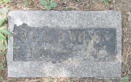 WILSON, MAUD D - Pulaski County, Arkansas | MAUD D WILSON - Arkansas Gravestone Photos