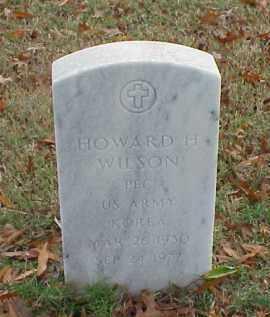 WILSON (VETERAN KOR), HOWARD H - Pulaski County, Arkansas | HOWARD H WILSON (VETERAN KOR) - Arkansas Gravestone Photos