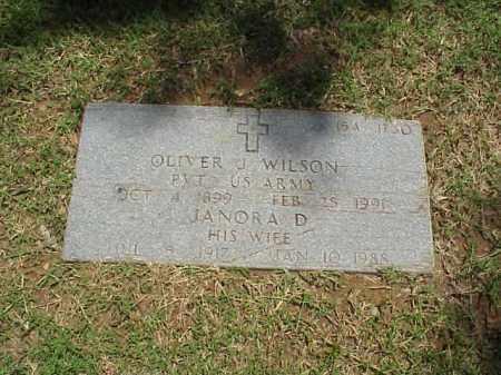 WILSON, JANORA D - Pulaski County, Arkansas | JANORA D WILSON - Arkansas Gravestone Photos