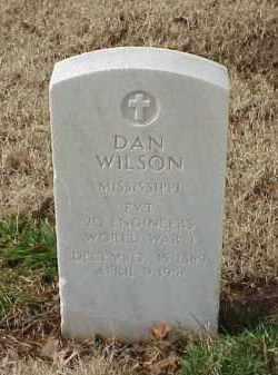 WILSON (VETERAN WWI), DAN - Pulaski County, Arkansas | DAN WILSON (VETERAN WWI) - Arkansas Gravestone Photos