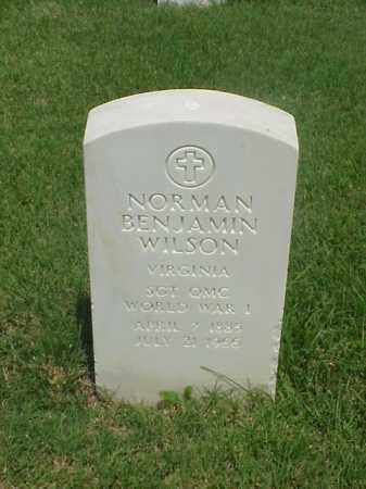 WILSON (VETERAN WWI), NORMAN BENJAMIN - Pulaski County, Arkansas | NORMAN BENJAMIN WILSON (VETERAN WWI) - Arkansas Gravestone Photos