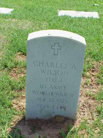 WILSON (VETERAN WWII), CHARLES A - Pulaski County, Arkansas | CHARLES A WILSON (VETERAN WWII) - Arkansas Gravestone Photos
