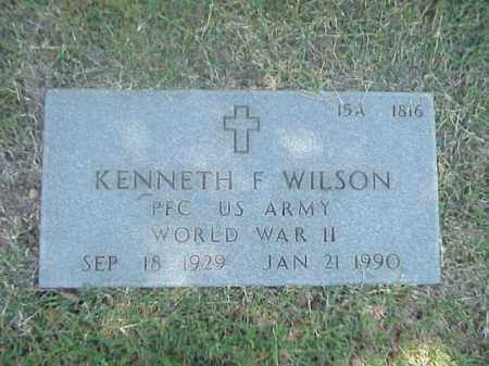 WILSON (VETERAN WWII), KENNETH F - Pulaski County, Arkansas | KENNETH F WILSON (VETERAN WWII) - Arkansas Gravestone Photos