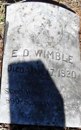 WIMBLE, E D - Pulaski County, Arkansas | E D WIMBLE - Arkansas Gravestone Photos