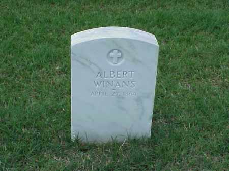 WINANS (VETERAN UNION), ALBERT - Pulaski County, Arkansas | ALBERT WINANS (VETERAN UNION) - Arkansas Gravestone Photos