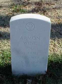 WINE (VETERAN WWII), ARMON - Pulaski County, Arkansas | ARMON WINE (VETERAN WWII) - Arkansas Gravestone Photos
