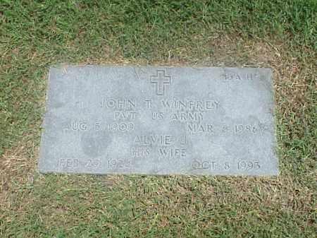 WINFREY, ALVIE J - Pulaski County, Arkansas | ALVIE J WINFREY - Arkansas Gravestone Photos