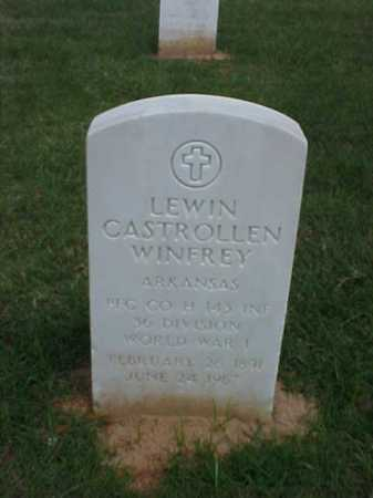 WINFREY (VETERAN WWI), LEWIN CASTROLLEN - Pulaski County, Arkansas | LEWIN CASTROLLEN WINFREY (VETERAN WWI) - Arkansas Gravestone Photos