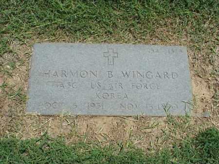 WINGARD (VETERAN KOR), HARMON B - Pulaski County, Arkansas   HARMON B WINGARD (VETERAN KOR) - Arkansas Gravestone Photos
