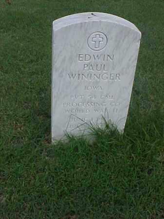 WININGER (VETERAN WWII), EDWIN PAUL - Pulaski County, Arkansas | EDWIN PAUL WININGER (VETERAN WWII) - Arkansas Gravestone Photos