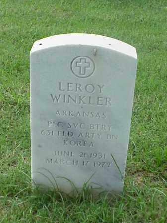 WINKLER (VETERAN KOR), LEROY - Pulaski County, Arkansas | LEROY WINKLER (VETERAN KOR) - Arkansas Gravestone Photos