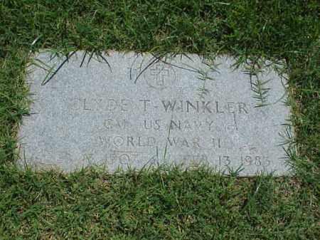 WINKLER (VETERAN WWII), CLYDE T - Pulaski County, Arkansas | CLYDE T WINKLER (VETERAN WWII) - Arkansas Gravestone Photos