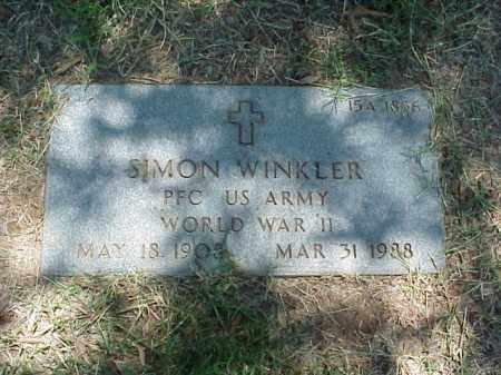 WINKLER (VETERAN WWII), SIMON - Pulaski County, Arkansas   SIMON WINKLER (VETERAN WWII) - Arkansas Gravestone Photos