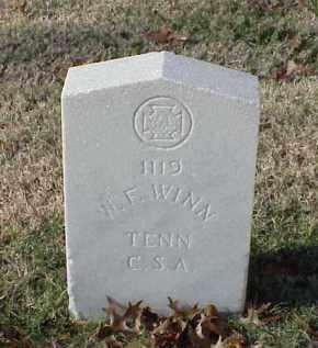 WINN (VETERAN CSA), W F - Pulaski County, Arkansas   W F WINN (VETERAN CSA) - Arkansas Gravestone Photos