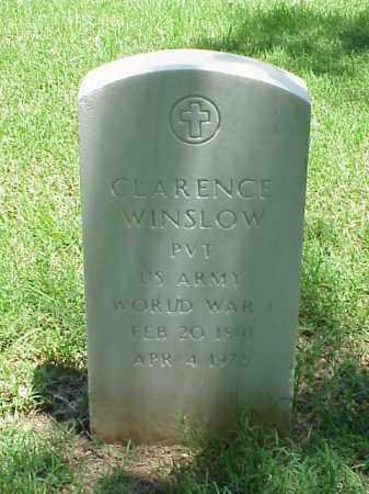 WINSLOW (VETERAN WWI), CLARENCE - Pulaski County, Arkansas   CLARENCE WINSLOW (VETERAN WWI) - Arkansas Gravestone Photos