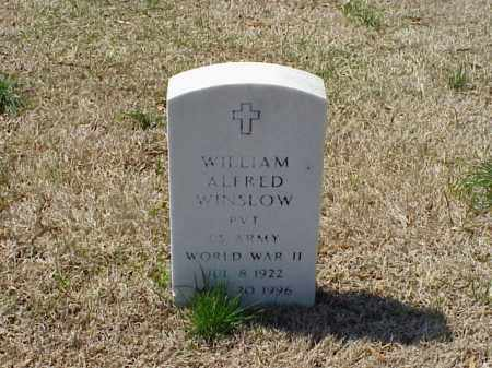 WINSLOW (VETERAN WWII), WILLIAM ALFRED - Pulaski County, Arkansas   WILLIAM ALFRED WINSLOW (VETERAN WWII) - Arkansas Gravestone Photos