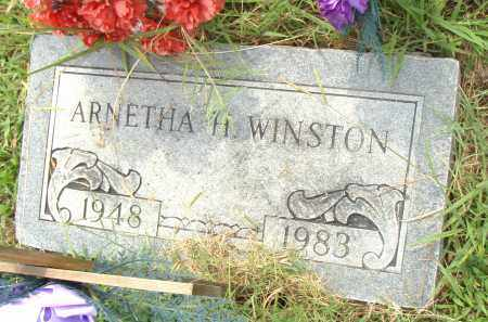 WINSTON, ARNETHA H - Pulaski County, Arkansas | ARNETHA H WINSTON - Arkansas Gravestone Photos