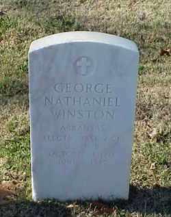 WINSTON (VETERAN WWII), GEORGE NATHANIEL - Pulaski County, Arkansas | GEORGE NATHANIEL WINSTON (VETERAN WWII) - Arkansas Gravestone Photos