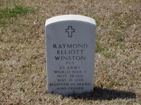 WINSTON (VETERAN WWII), RAYMOND ELLIOTT - Pulaski County, Arkansas   RAYMOND ELLIOTT WINSTON (VETERAN WWII) - Arkansas Gravestone Photos