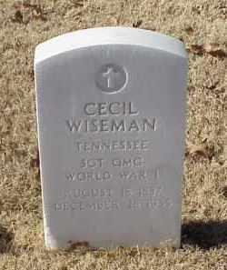 WISEMAN (VETERAN WWI), CECIL - Pulaski County, Arkansas | CECIL WISEMAN (VETERAN WWI) - Arkansas Gravestone Photos