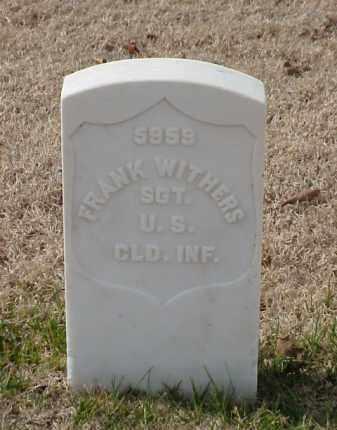 WITHERS (VETERAN UNION), FRANK - Pulaski County, Arkansas | FRANK WITHERS (VETERAN UNION) - Arkansas Gravestone Photos