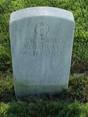 WOFFORD (VETERAN WWII), COLUMBUS ADMIRAL - Pulaski County, Arkansas   COLUMBUS ADMIRAL WOFFORD (VETERAN WWII) - Arkansas Gravestone Photos