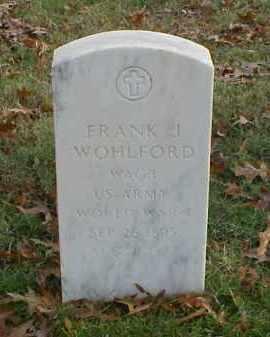 WOHLFORD (VETERAN WWI), FRANK J - Pulaski County, Arkansas | FRANK J WOHLFORD (VETERAN WWI) - Arkansas Gravestone Photos