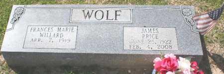 WOLF, FRANCES - Pulaski County, Arkansas | FRANCES WOLF - Arkansas Gravestone Photos