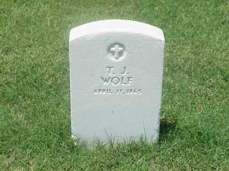 WOLF, T J - Pulaski County, Arkansas | T J WOLF - Arkansas Gravestone Photos
