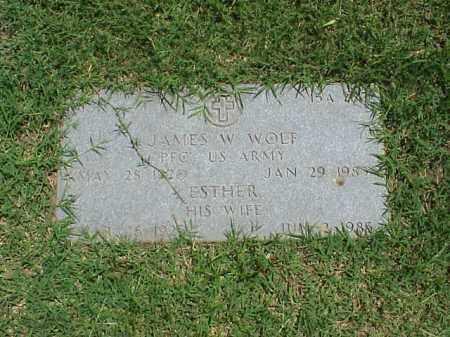 WOLF (VETERAN WWII), JAMES W - Pulaski County, Arkansas | JAMES W WOLF (VETERAN WWII) - Arkansas Gravestone Photos